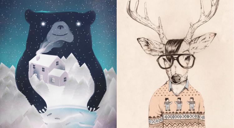 winterthemedartworks